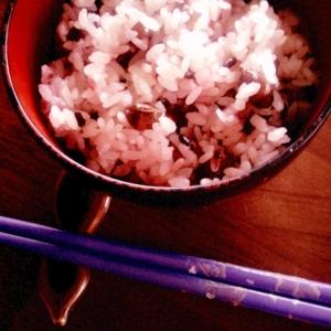 レンジで炊く 節分豆(煎り大豆)で豆ご飯