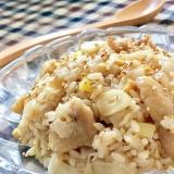 ニンニクたっぷり♫鶏皮のガーリック炒飯