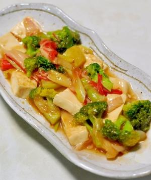 豆腐とブロッコリーとカニカマの中華あん