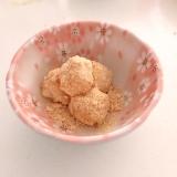 レンジで簡単‼米粉のきな粉だんご