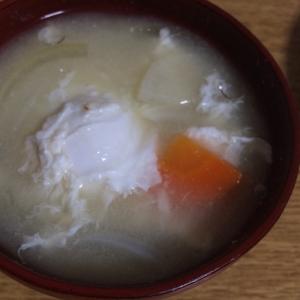 卵のお味噌汁