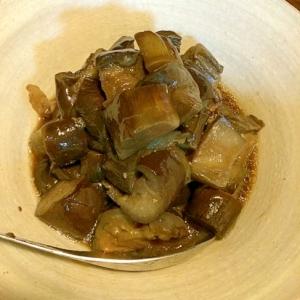 秋茄子と豚肉の煮物