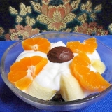 フルーツづくしのデザート
