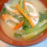 小松菜のみりん味噌汁