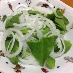 新玉ねぎとアイスプラントのサラダ