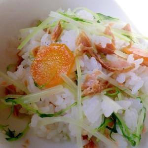 鮭と水菜のちらし寿司