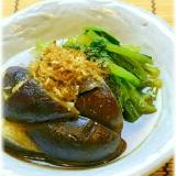 レンジで簡単!茄子と小松菜の煮浸し