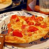 手作りピザ生地*トマトとアンチョビのピザ