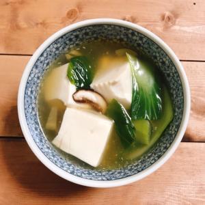 豆腐と干し椎茸☆優しい味のトロトロスープ