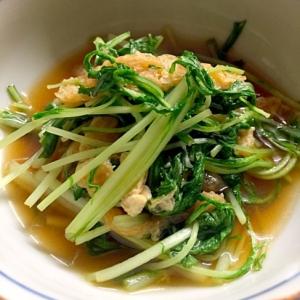 水菜と薄揚げの煮浸し