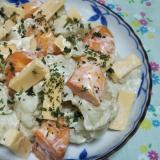 神奈川県産柿とカリフラワーとチーズのマヨ和え☆