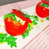 丸ごとトマトの♡クリチカプレーゼ
