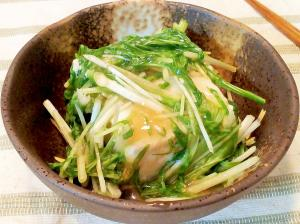 ♪簡単5分の和食小鉢♡豆腐と水菜の餡かけ♪