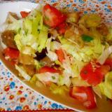ナスとトマトとレタスのサラダ