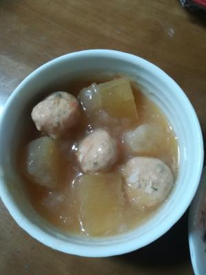 冬瓜と鶏団子の和風煮物