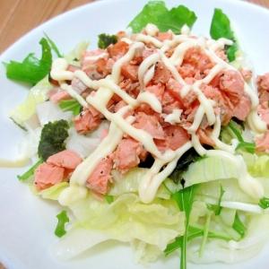 鮭マヨサラダ丼