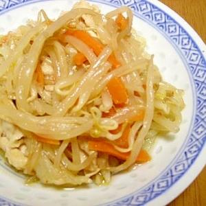 もやしと豚肉の中華風炒め物
