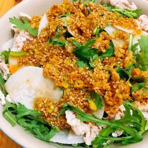 中華風ドレッシングで♪春菊と大根のサラダ