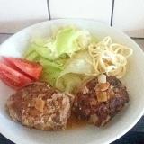 薄切り肉で、肉の味を楽しむハンバーグ