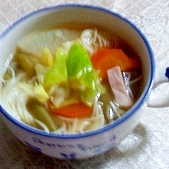 素麺入りコンソメスープ
