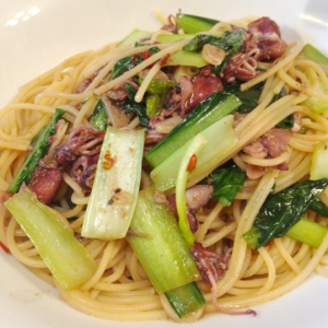 ホタルイカと小松菜の和風パスタ