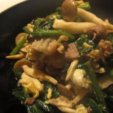 ビタミンB2と鉄分補給☆豚肉とほうれん草の炒め物