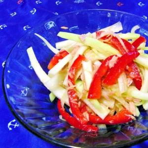 パパイヤとパプリカとツナの簡単サラダ