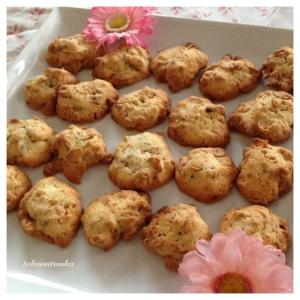 香ばしい♪アーモンドとコーンフレークのクッキー