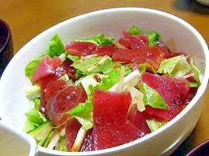 刺身もサラダで!マグロサラダ