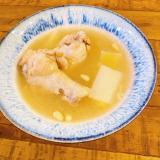ホットクック1.0L調理♪ 参鶏湯風手羽元のスープ