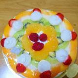 美味しいフルーツケーキ