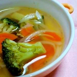 野菜たっぷり!コンソメスープ♪