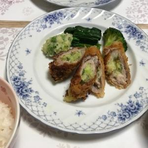 ブロッコリーチーズポテサラの肉巻きカツ