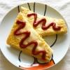ふんわり玉子とスライスチーズのオムケチャトースト♡