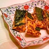 紫蘇の実の佃煮で卵焼