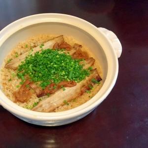 ★簡単★土鍋で作るサンマとまいたけの炊き込みご飯
