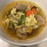 今日の夕飯はコレ1つ!簡単卵と鶏肉のクッパ☆
