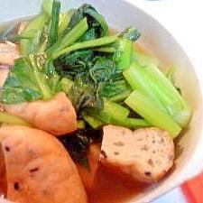 がんもどきと小松菜の煮びたし