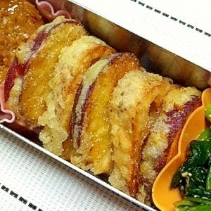 お弁当にも♪レンコンとさつま芋の天ぷら☆