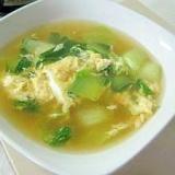 コンソメ卵スープin青梗菜
