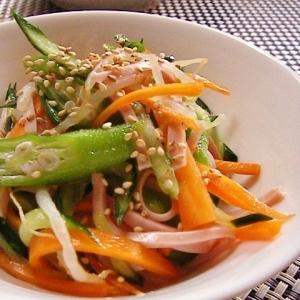簡単もう一品。魚肉ソーセージの中華和え