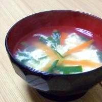 ニラたまスープ