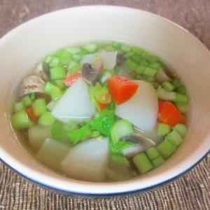 カブとマッシュルームのスープ