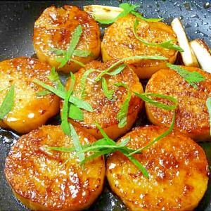 長芋の照り焼き大葉添え