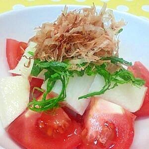 長芋とトマトのサラダ