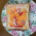 簡単ランチ♪カニかまチーズトースト