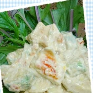 こくうま♡アボカドと卵の胡麻マヨサラダ