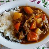 南瓜と牛薄切り肉のカレー