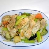 豚肉と秋野菜のペペロンチーノ風炒め