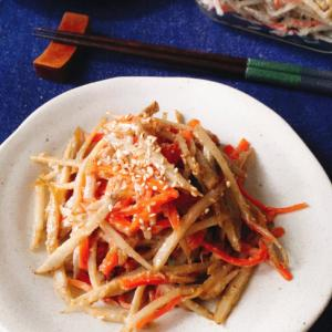 レンジで簡単!味染み胡麻マヨごぼうサラダ